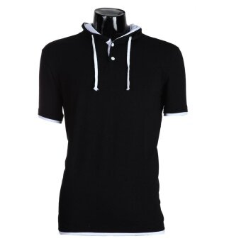 Harga Fit hort eeve port s shirt Caua Tee(Back+ White)