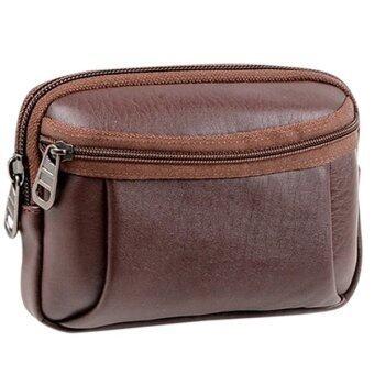 Matteo กระเป๋าเงิน กระเป๋าคาดเข็มขัด กระเป๋าโทรศัพท์ B1087 (สีน้ำตาล)