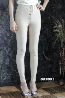 Platinum Fashion กางเกงขายาวเอวสูง ทรงสกินนี่ ไม่โชว์เนื้อ รุ่นRO8551