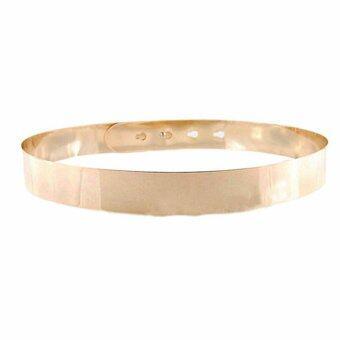 ไอ้จกแบบหัวเข็มขัดโลหะเมทัลลิกเอวเอวเข็มขัดปรับได้ทอง