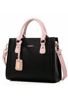 AXIXI กระเป๋าแฟชั่น เกาหลี รุ่น 008 ( Black )