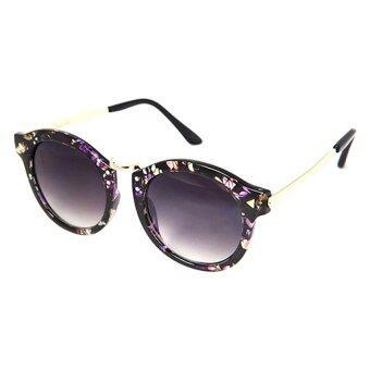Marco Polo แว่นตากันแดด Betterfly Frame Edition (Unisex) รุ่น SMA025 - สีดำลายดอกไม้