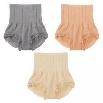 Munafie กางเกงสเตย์ญี่ปุ่นเก็บพุง ลดพุง กระชับสัดส่วน (เทา/ครีม/เนื้ิอ 3 ตัว )