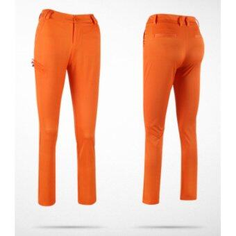 EXCEED LADY GOLF PANTS ( ORANGE ) กางเกงกอล์ฟสำหรับสุภาพสตรี สีส้ม KUZ018