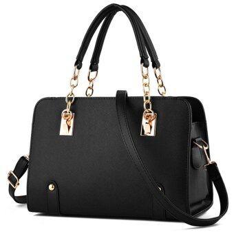 Little Bag กระเป๋าถือ กระเป๋าแฟชั่น กระเป๋าสะพายพาดลำตัว รุ่น LB-039 (สีดำ)