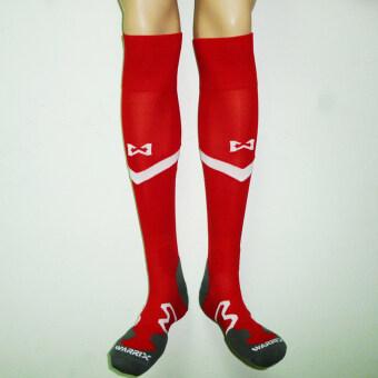WARRIX SPORT ถุงเท้าฟุตบอลไนล่อนแอนตี้แบคทีเรีย สโมสรสุพรรณบุรี WC-SP52Z ( สีแดง-ขาว )