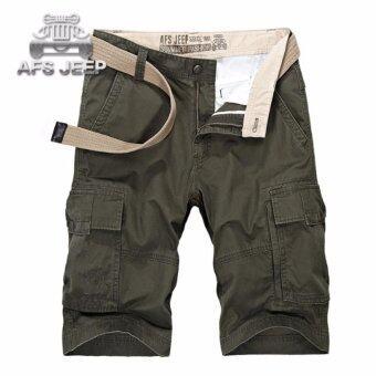 AFS JEEP กางเกงขาสั้นผู้ชาย (สีเขียวทหาร)