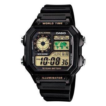 Casio Standard นาฬิกาข้อมือ รุ่น AE-1200WH-1B (Black)