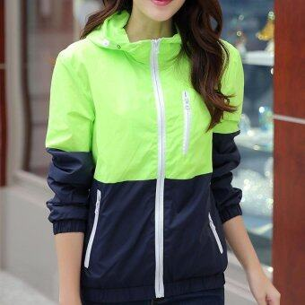 Harga Fashion Women Sport Jacket Blazers Coat (M - green) - intl