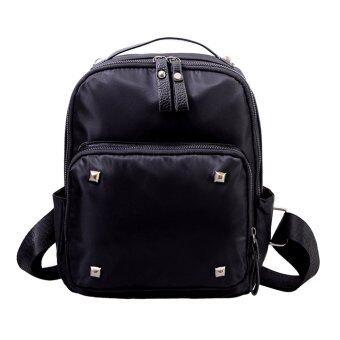 หญิงโรงเรียนสตรีกระเป๋าเป้กระเป๋าสะพายกระเป๋าหนังกระเป๋าเป้สะพายหลังไนลอน (ขนาดเล็ก)