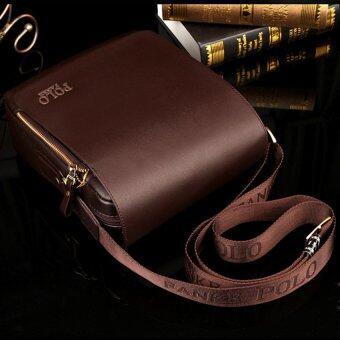 ชายไหล่ห่อกระเป๋าถือกระเป๋าเอกสารกระเป๋าทุกคนนำกระเป๋าเป้กระเป๋าหนังขนาดเล็กธุรกิจสบาย ๆ ตาย (แนวตั้ง/สีน้ำตาล/กลางขนาด)