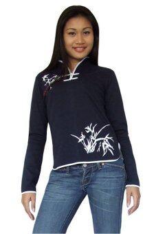 Princess of asia เสื้อจีนผู้หญิงแขนยาว - สีกรมท่า