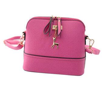 นิวส่งถุงเหล้าองุ่นผู้หญิงกระเป๋าหนังกระเป๋าธรรมดา ๆ เปลือกสีชมพู-ระหว่างประเทศ