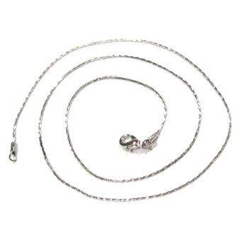 TANITTgems สร้อยคอทองคำขาวแบบเส้นเล็กลายสวย