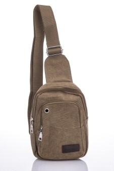 Premium Bag กระเป๋าคาดอก คาดเอว สะพายไหล่ รุ่น PB008 (สีกากี)