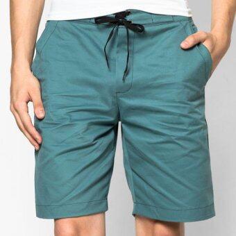 Play Hard กางเกงขาสั้น ลำลอง สีเขียวน้ำทะเล
