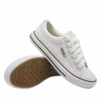 Alisa Shoes รองเท้าผ้าใบผู้หญิง รุ่น B 999 White