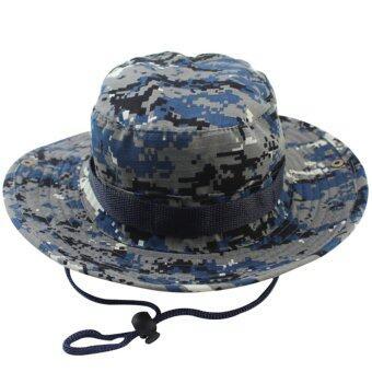 จี: สีน้ำเงินหมวกพรางถัง หมวกทำหมวกฮิปฮอป Bob สำหรับผู้ชาย ประมงชาวประมงทหารคาซาวีวันฤดูร้อน-ระหว่างประเทศ