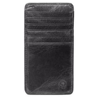 Matteo กระเป๋าเงินหนังแท้ กระเป๋าสตางค์แบบบาง กระเป๋าใส่บัตรเครดิต Elephant - Black