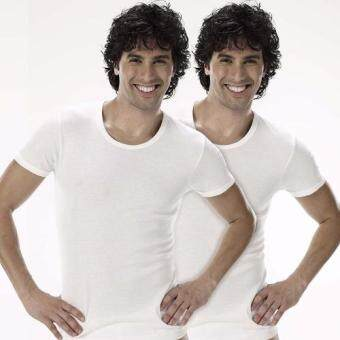 Sanremo แซนรีโม เสื้อแขนสั้นคอกลม Light Soft Cool Pack 2 ตัว รุ่น NIS-2SCT1-WH สีขาว
