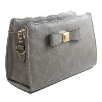 GrabMeNow กระเป๋าสะพาย กระเป๋าสะพายพาดลำตัว รุ่น Classic BB078 (สีเทา)