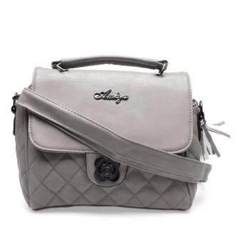 กระเป๋าถือ กระเป๋าสะพาย ผู้หญิง รหัส.6971 (สีเทา)