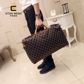 Harga 2016 New Leisure Korean Men Bag Portable Travel Bag Large Bag Travel Bag - intl