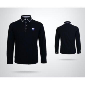 EXCEED เสื้อกอล์ฟผู้ชายแขนยาว สีดำ YF028 MEN'S GOLF STRETCH T-SHIRT PGM ( BLACK )