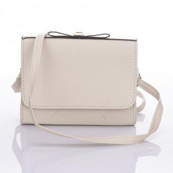 Premium Bag กระเป๋าแฟชั่น กระเป๋าสะพายข้าง รุ่น PB-001 (สีขาว)