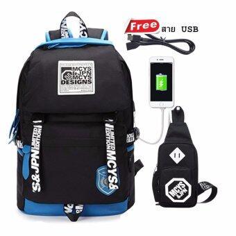Peimm Modello Premium Backpacker MCYS เป้สะพายหลัง เป้กันน้ำ เป้เดินทาง กระเป๋าคาดอก มัลติฟังก์ชั่น