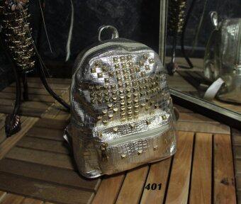 Platinum Fashion กระเป๋าสะพายหลังแฟชั่น ผ้าหนาดี ทน รุ่น401