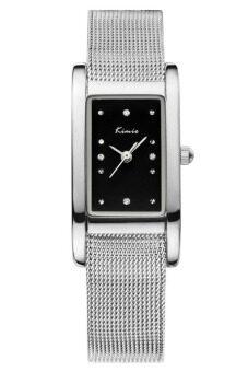 Kimio นาฬิกาข้อมือผู้หญิง สีเงิน/ดำ สายสแตนเลส รุ่น KW6018