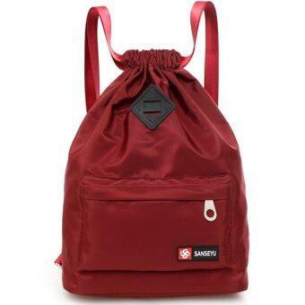 RICHCOCO กระเป๋าเป้สะพายหลัง Nylon leisure Backpack (K10-Red)