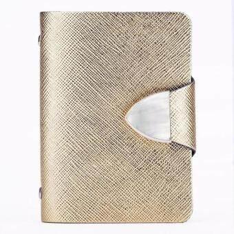 Matteo กระเป๋าใส่บัตรเครดิต 26 ใบ รุ่น Sparkling สีทองสวยหรู -1194