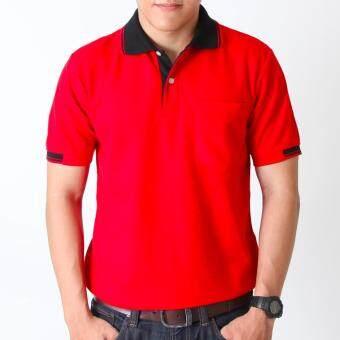 POLOMAKER เสื้อโปโล KanekoTK PK013 สีแดงปกดำ (Male)