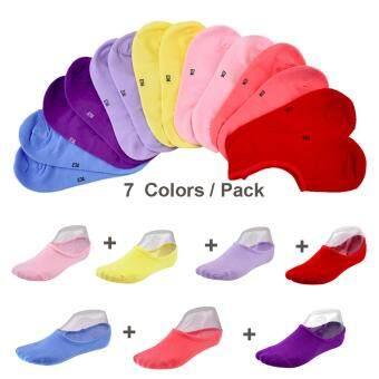 ถุงเท้าสั้น Super Short เว้าโค้งต่ำกว่าตาตุ่ม สุดเก๋ แพ็ค 7 คู่ คละสีไม่ซ้ำกัน