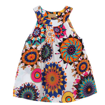 Harga Girls Sleeveless Floral Dress