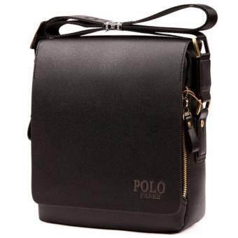 Trusty กระเป๋าสะพาย กระเป๋าหนัง ผู้ชาย รุ่น POLO FANKE 1620 - สีดำ
