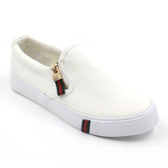 Air Move รองเท้าผ้าใบแฟชั่นผู้หญิง รุ่น B-6020 (White)
