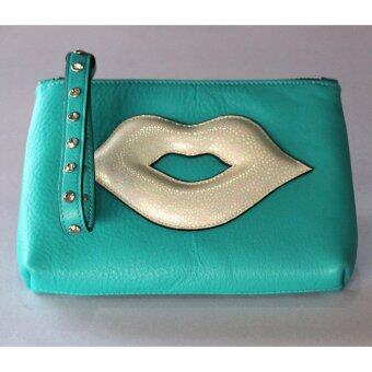PINK PENNY'S Lip Diamond สีฟ้า-ปากขาวมุก