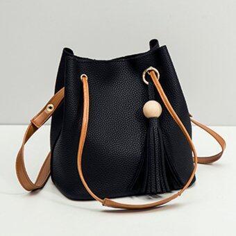 Little Bag กระเป๋าสะพาย กระเป๋าสะพายข้างใบเล็ก กระเป๋าถือน่ารักๆ รุ่น LB-047 (สีดำ)