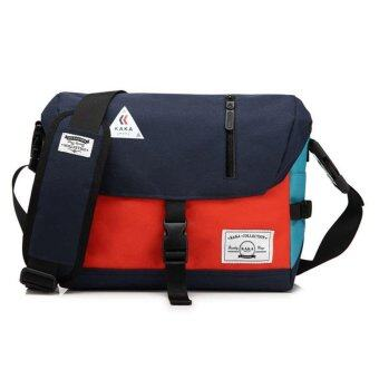 Harga Navy Multi-functional Messeger Crossbody Bags Canvas Men Shoulder Bags - intl