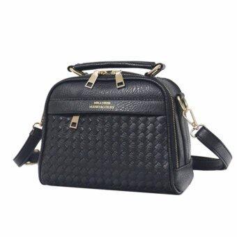 Little Bag กระเป๋าถือ กระเป๋าแฟชั่น กระเป๋าสะพายพาดลำตัว รุ่น LB-065 (สีดำ)