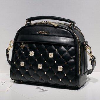 AXIXI กระเป๋าแฟชั่น รุ่น Flora Princess สีดำ