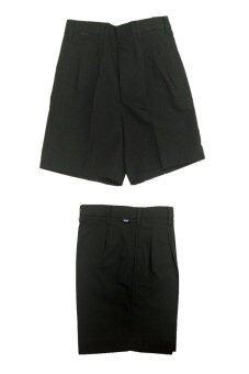 FITTER กางเกงนักเรียนชาย ขาสั้น ขนาดตามรอบเอว ( สีดำ ) จำนวน 2 ตัว