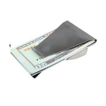 คลิปร้อนเงินถือบัตรเครดิตบางคู่ฝ่ายถือกระเป๋าสตางค์สำหรับบุรุษ และสตรี