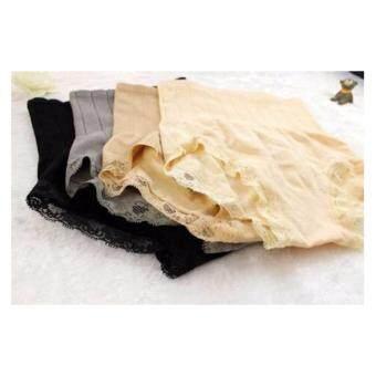 Munafie กางเกงในกระชับสัดส่วน กางเกงในเก็บพุง(ครีม/เทา/เนื้อ/ดำ) - 4 ตัว