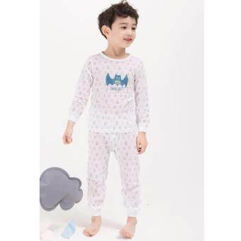 Ppippilong ปิ๊บ ปี้ ลอง Thunder Boy ชุดนอนลำลอง ผ้ายืดเกาหลีนำเข้า cotton 100%