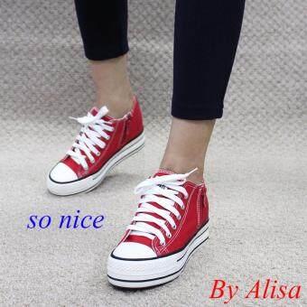 Alisa Shoes รองเท้าผ้าใบผู้หญิงแฟชั่น รุ่น C022 Red