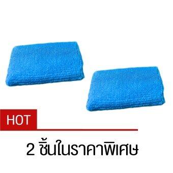 ปลอกรัดข้อมือซับเหงื่อ สำหรับออกกำลังกาย สีฟ้า (Blue) x2